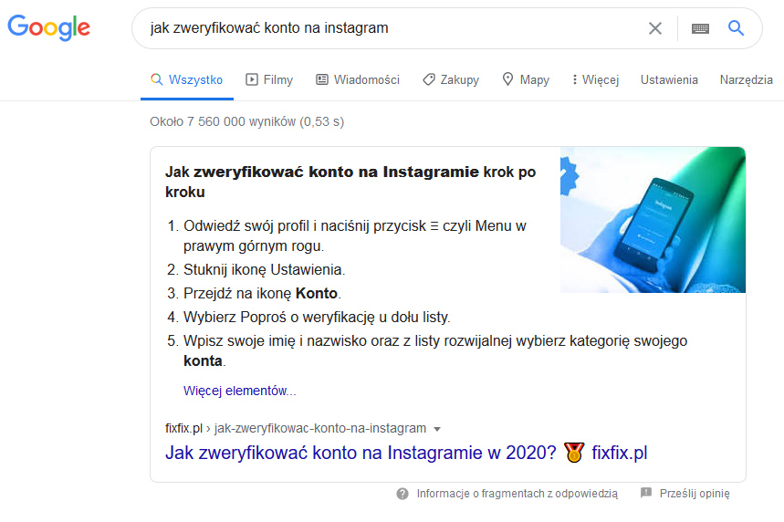 Jak zweryfikować konto na Instagram szybko