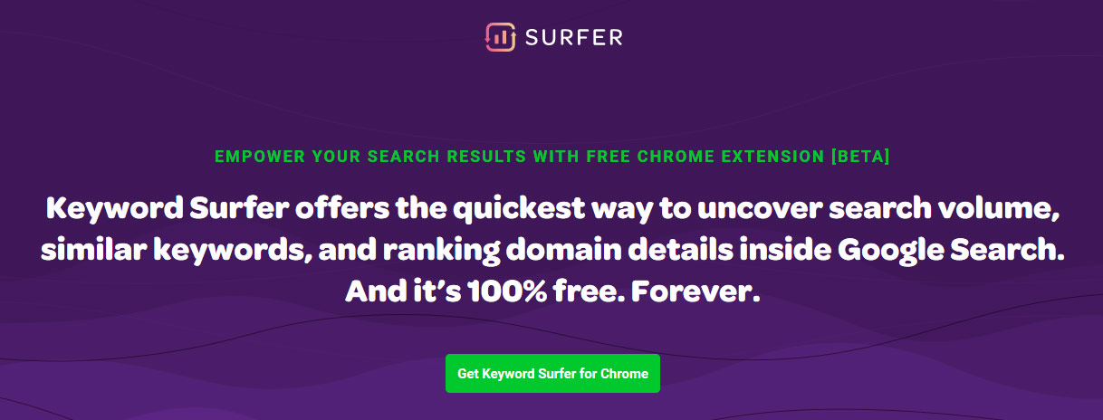 Narzędzia SEO - Keyword Surfer
