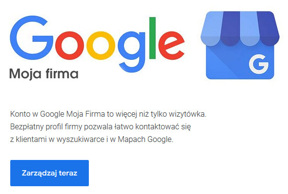 Narzędzia SEO - Google Moja Firma
