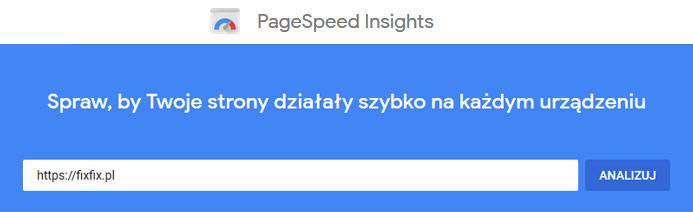 Narzędzia SEO - Google Page Speed Insights