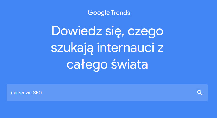 Narzędzia SEO - Google Trends