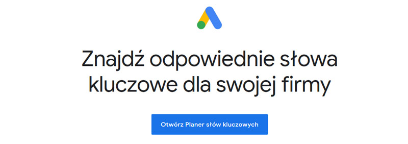 Narzędzia SEO - Planer Słów Kluczowych Google