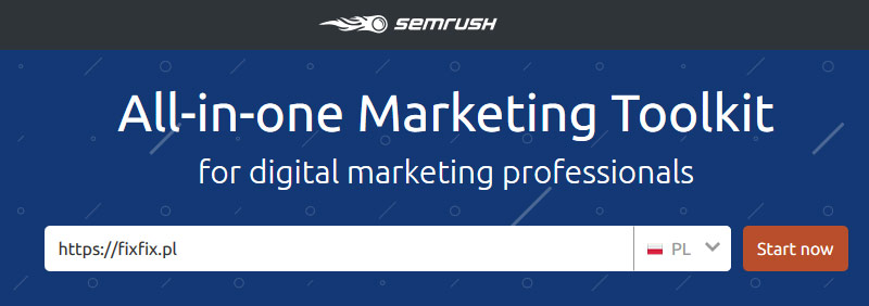 Narzędzia SEO - SEMrush