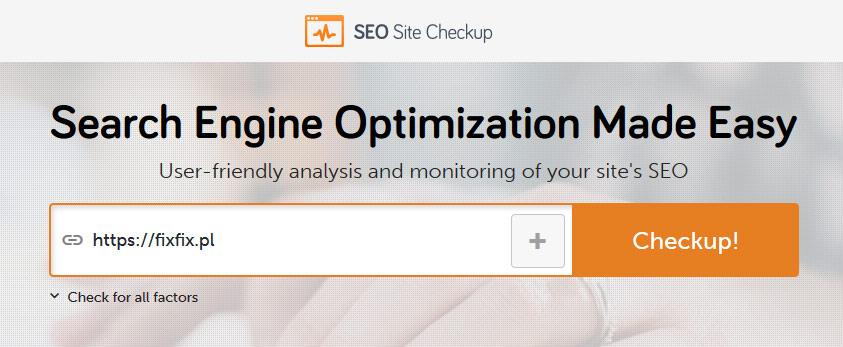 Narzędzia SEO - SEO Site Checkup